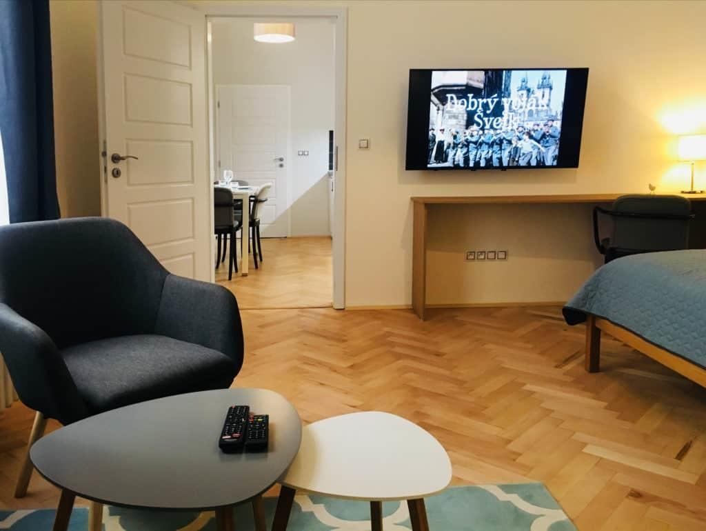 Marienbad Apartment Marianske Lazne obývací část
