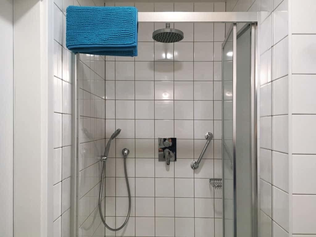 Marienbad Apartment Yard View shower