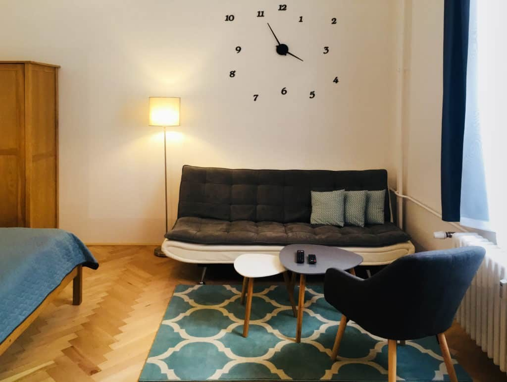 Marienbad Apartment Yard View sofa
