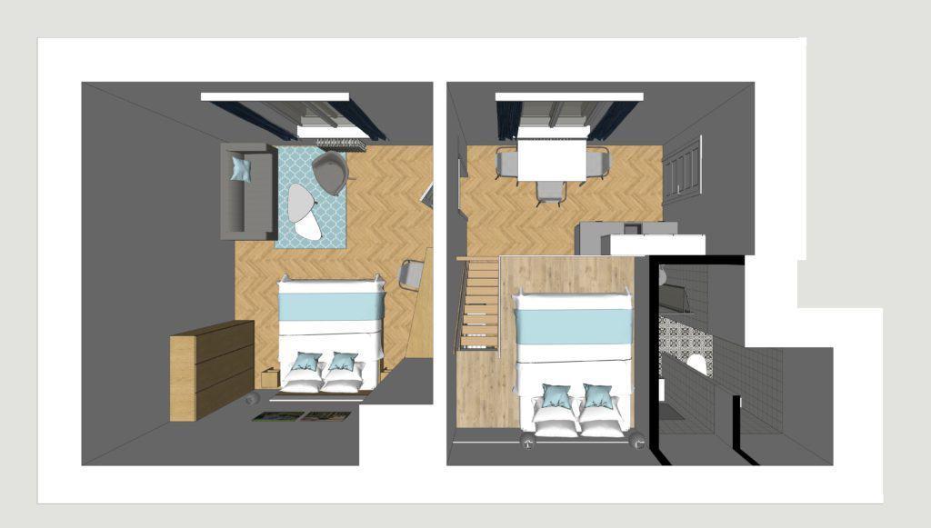 Marienabad Apartment Mariánské Lázně Floor Plan Yard view Vorderansicht
