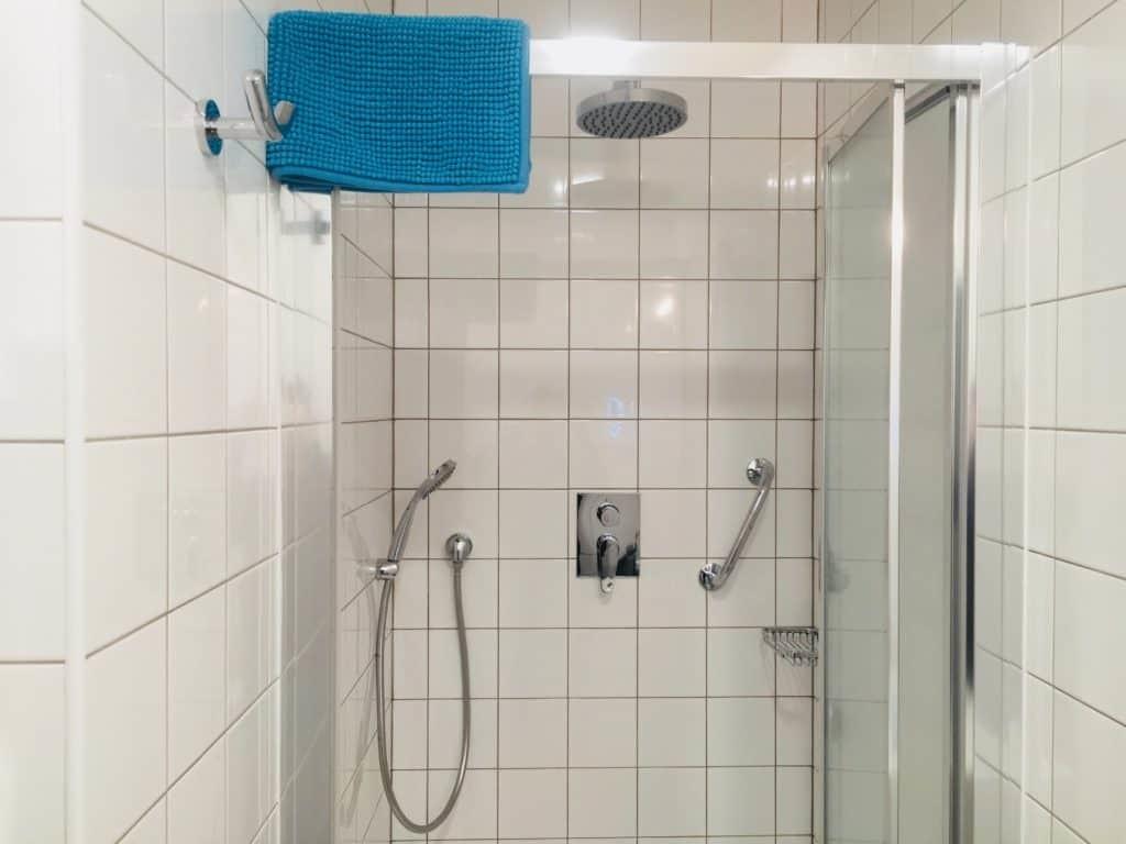 Marienbad Apartment Mariánské Lázne Park view bathroom shower