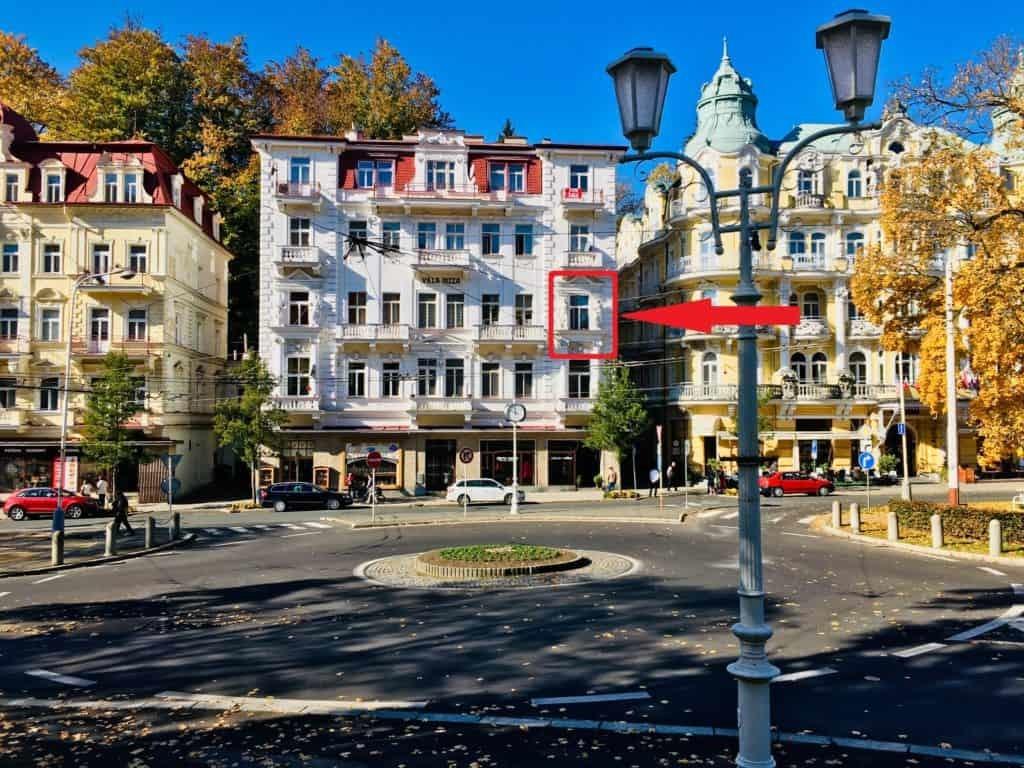 Marienbad Apartment Villa Nizza Eingang