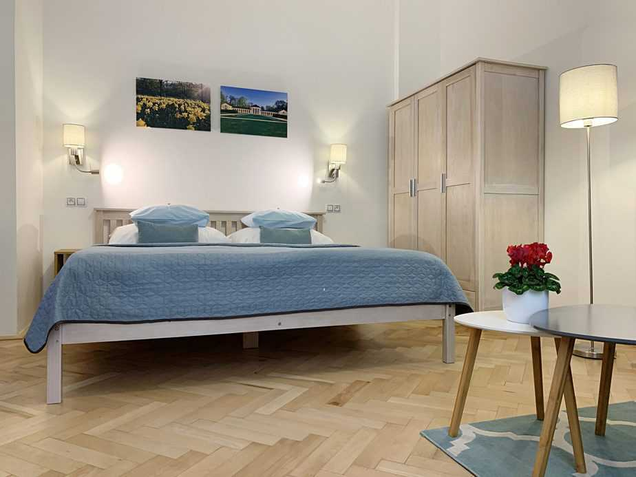 Marienbad Apartment Yard View - King size bed