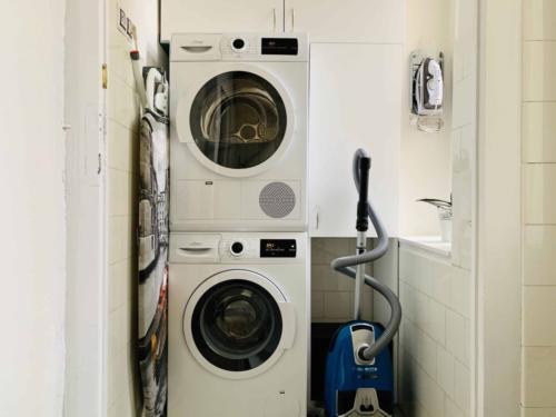 Marienbad Apartment Mariánské Lázně pohled na pračku a sušičku