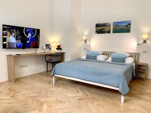 Marienbad Apartment Yard View obývací pokoj