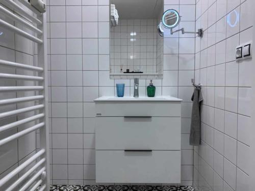 Marienbad Apartment Park View koupelna zrcadlo